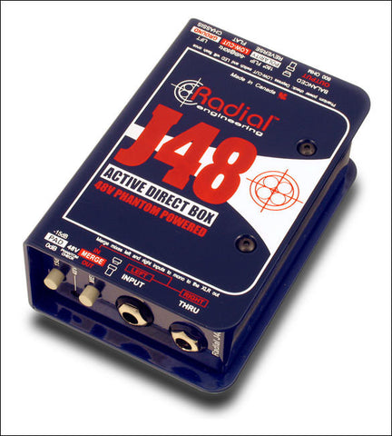 Sound Oracle - J48™ Phantom Powered Active Direct Box - Image Source: radialeng.com