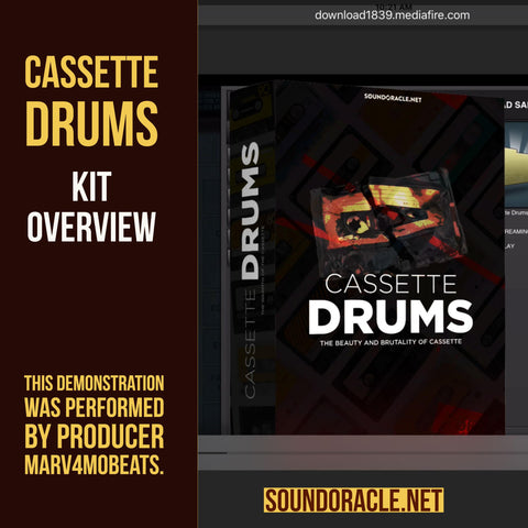 Cassette Drums- Drum Library for Producers
