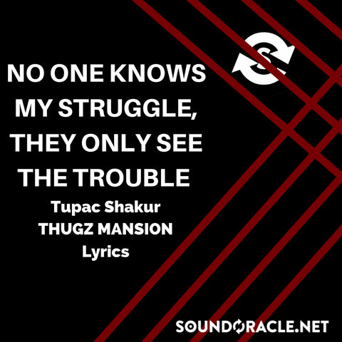 Sound Oracle Blog - No One Knows My Struggle, They Only See The Trouble By Tupac Shakur's Thugz Mansion Lyrics