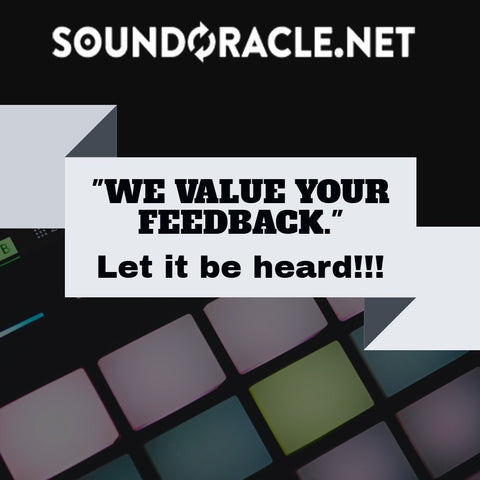 YOUR FEEDBACK MATTERS!!!! More Feedback = MORE INFORMATION More Information = BETTER PRODUCTS