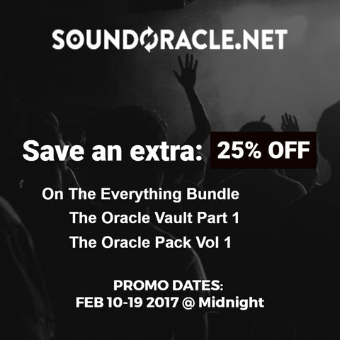 Save and extra 25% Off on selected Sound Packs (Everything Bundle, Vault & Oracle Pack Vol 1)