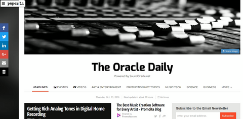 "ANNOUNCING THE LAUNCH OF MY NEW NEWSPAPER ""THE ORACLE DAILY!"