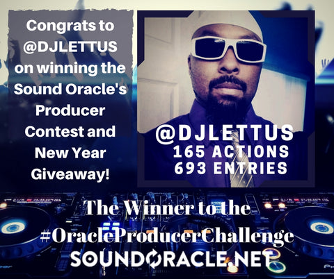 @DJLETTUS Winner of Sound Oracle's Producer Competition and New Year's Giveaway