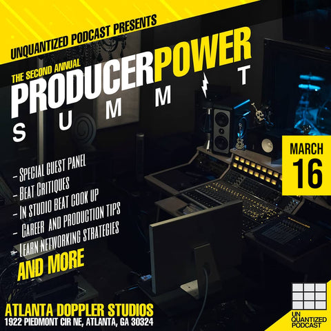 Unquantized Podcast, Unquantized ATL, Producer Power Summit, Atlanta Georgia, Doppler Studios, SoundOracle, Triza