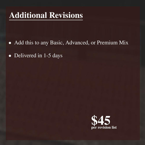 Additional Revisions - Soundoracle.net
