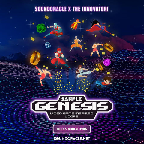 NEW KIT: Sample Genesis Deluxe Version with Stems (Video Game Inspired Sample Loops and Midi Loops)