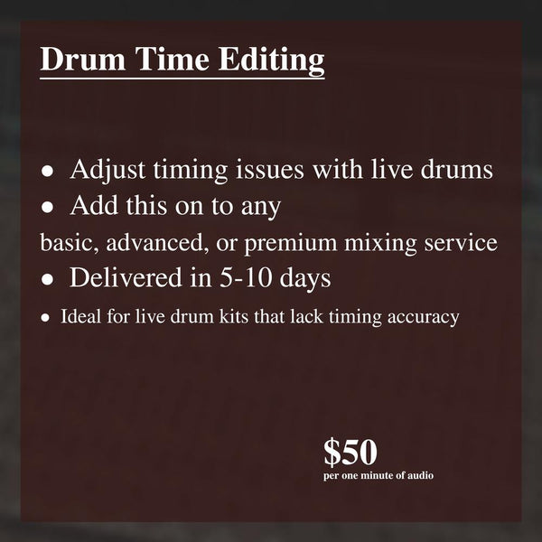 Drum Time Editing - Soundoracle.net