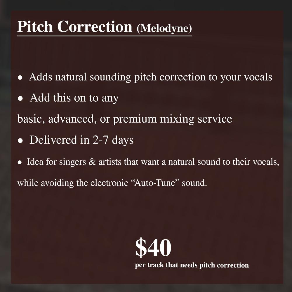 Pitch Correction (Melodyne)