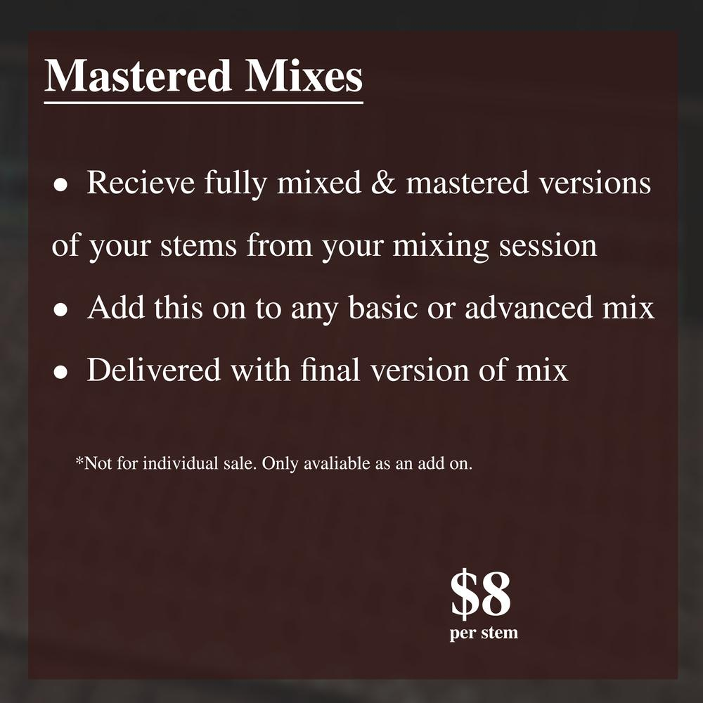 Mastered Stems