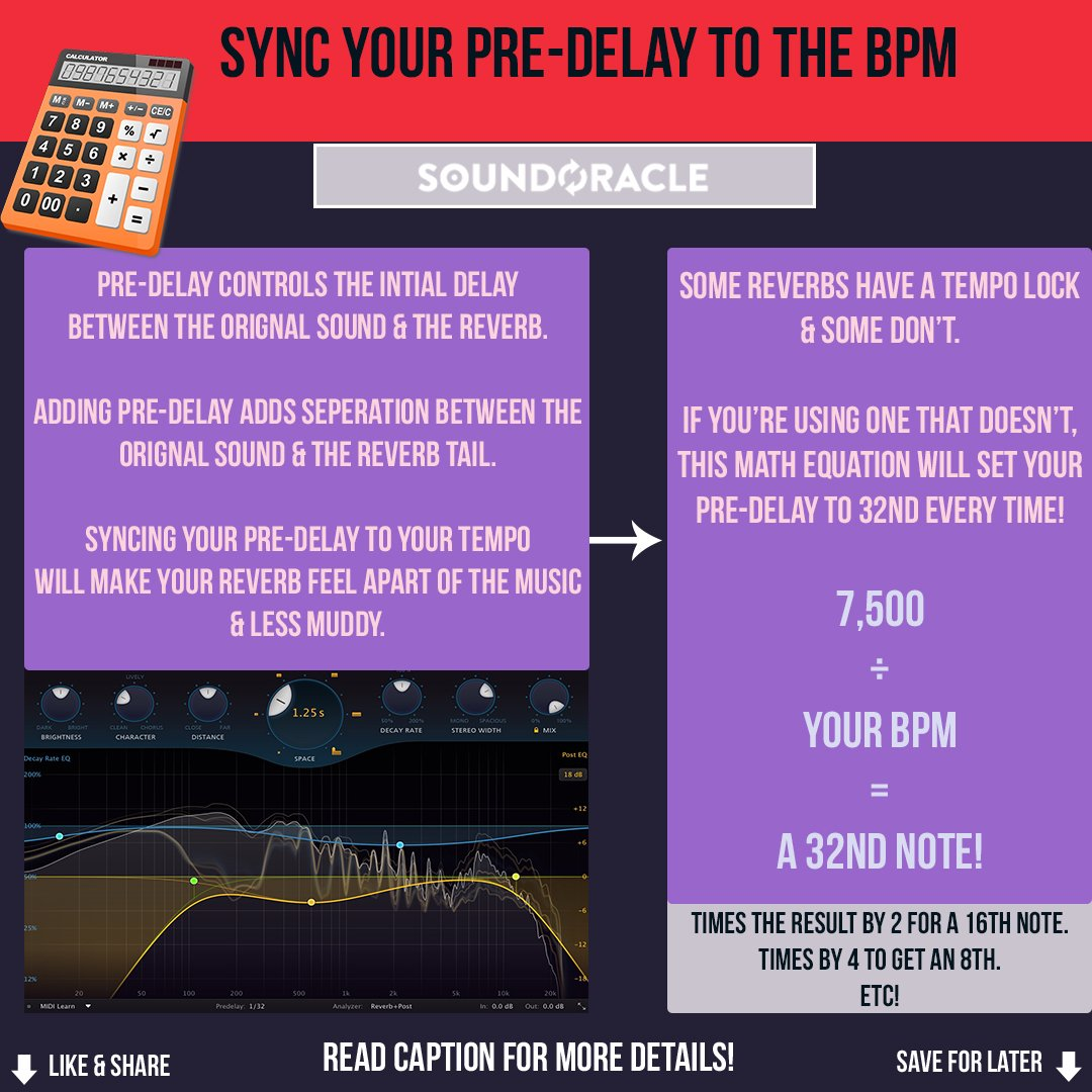 Sync Your Pre-Delay To The BPM