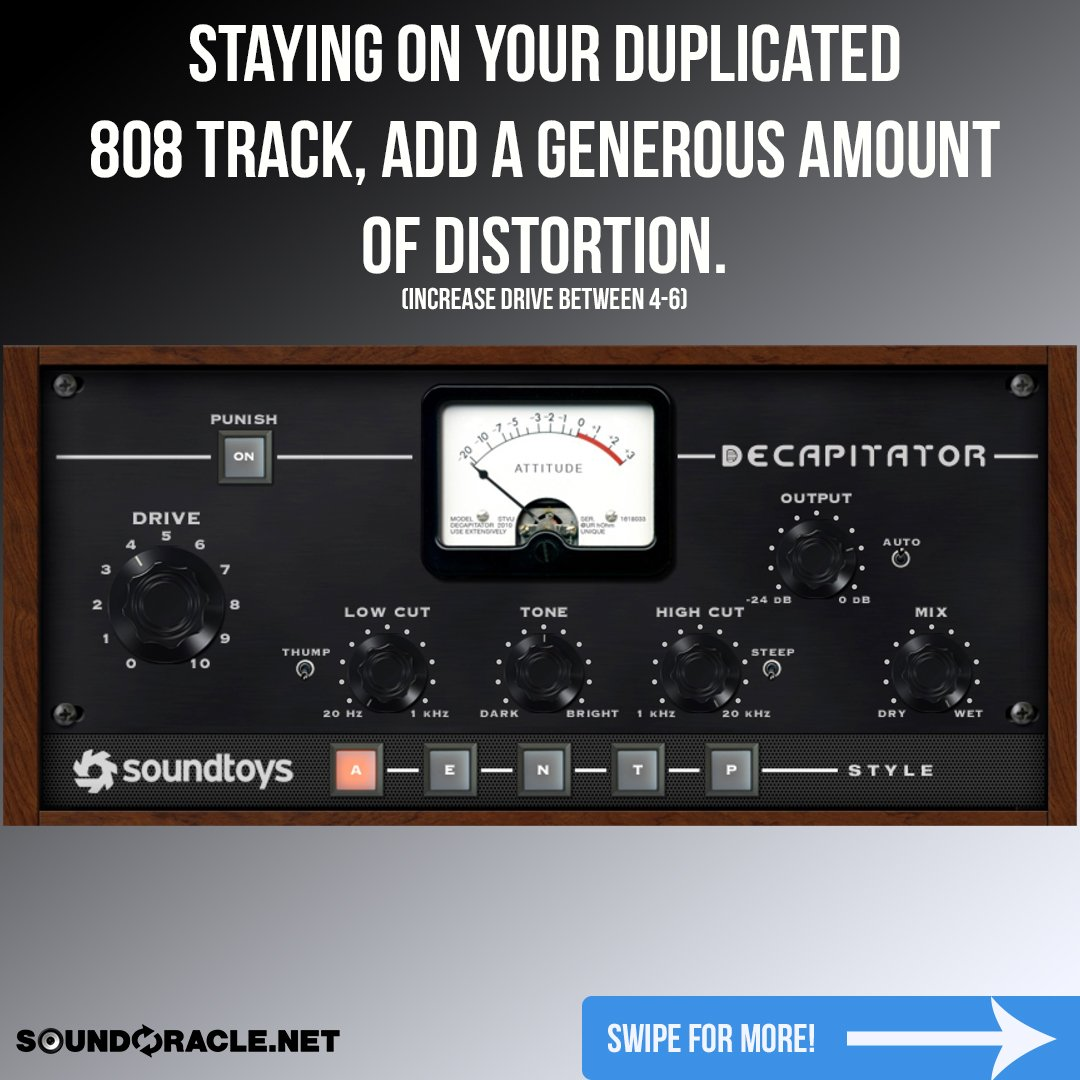 Step 4: Remaining on the duplicated 808 track, add on your favorite distortion plugin.