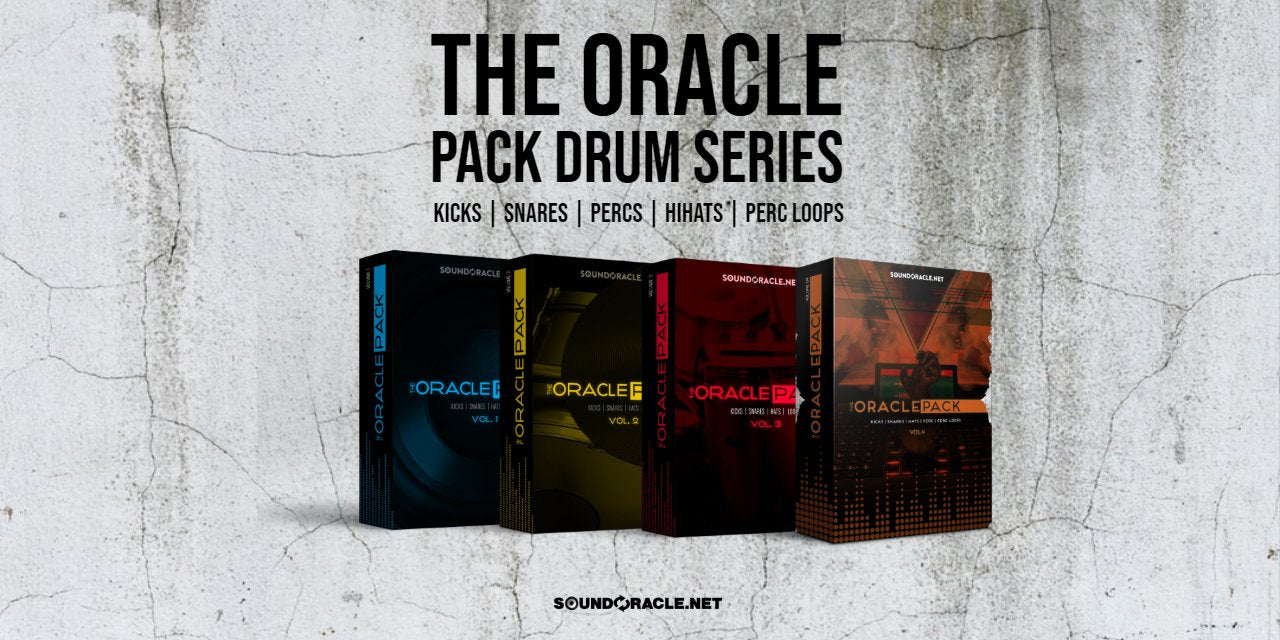 The Oracle Pack Bundle - Award-Winning Sound Design - Producer's #1 Choice for Premium Drum Kits, Loops, & Sounds. Created by Sound Oracle (Chief Sound Designer for Timbaland).