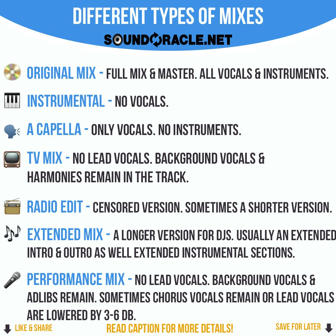 Different Types Of Mixes