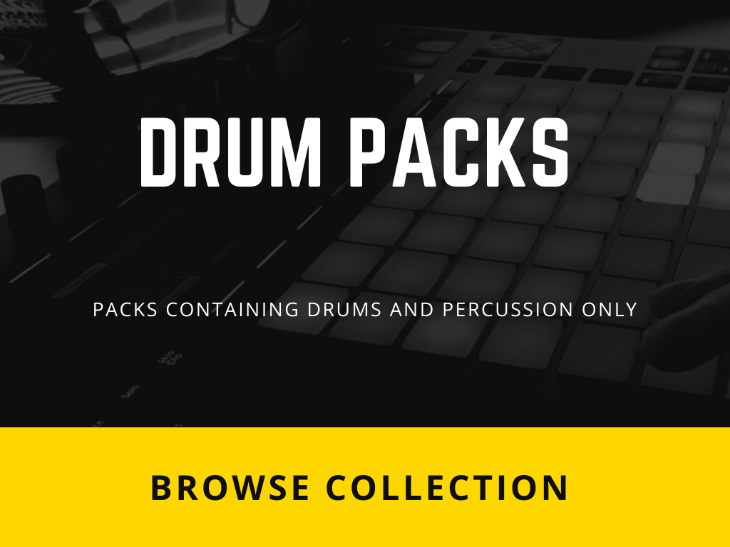 Packs containing Drums & Percussions only