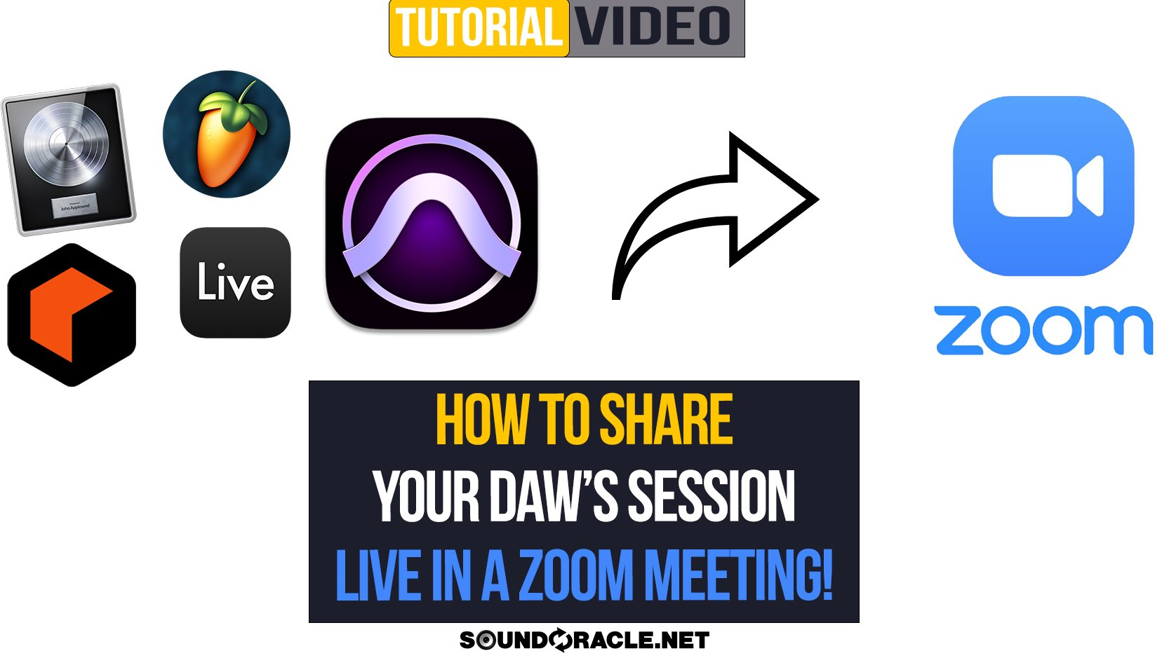 How To Share Your DAW's Zoom Session Live In A Zoom Meeting!