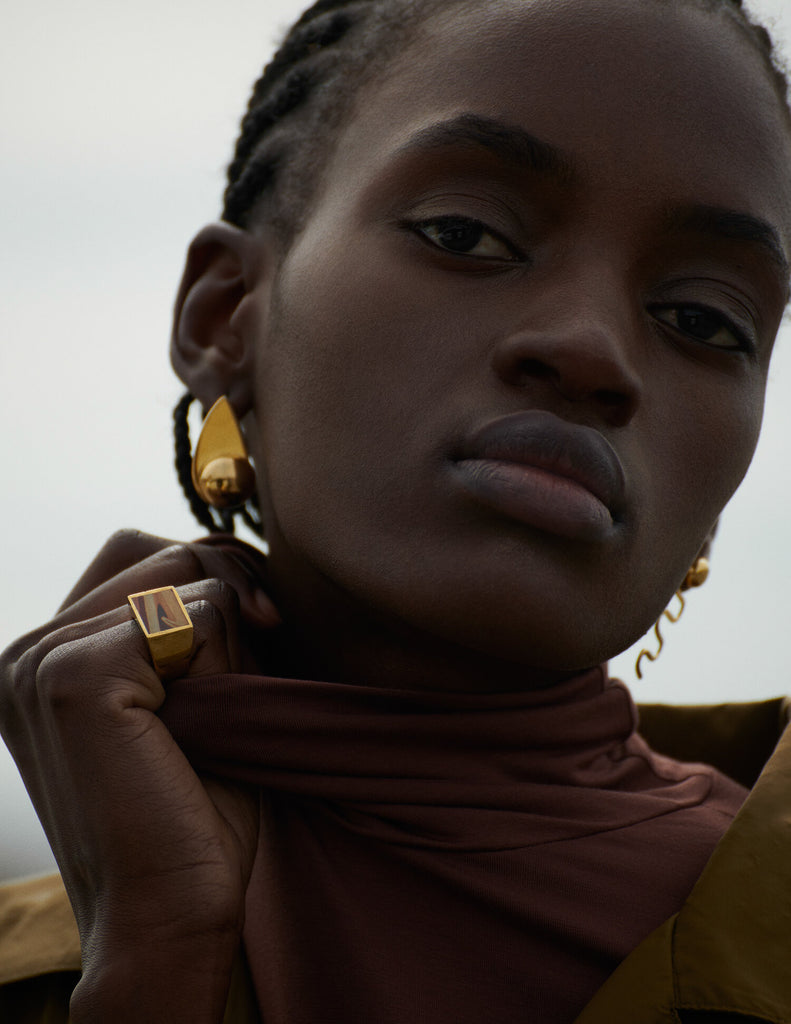 Legier Wonderstone signet ring featured in Vestal Magazine S/S 2020