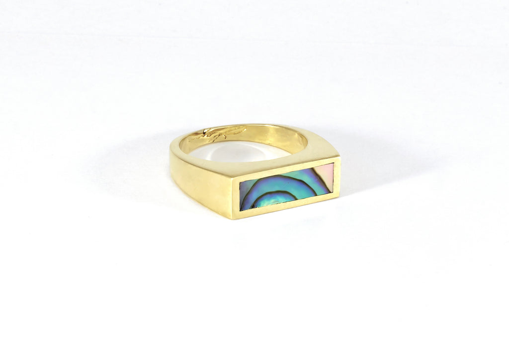 Legier Abalone small signet ring