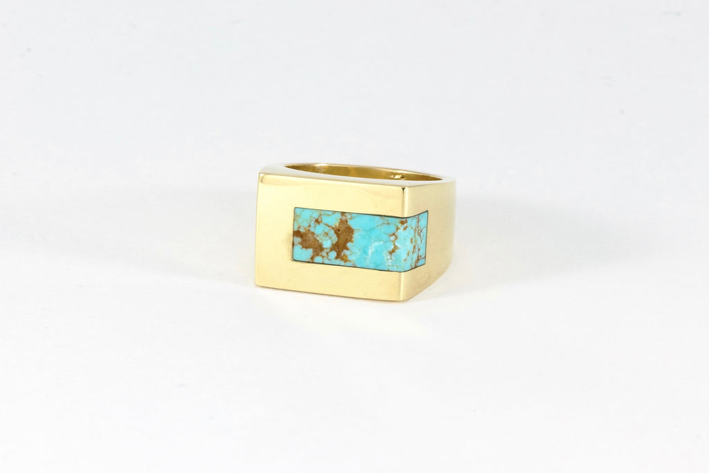 Legier Turquoise Stone Signet Strip Inlay