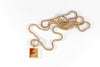 Legier Sunset stone signet pendant on 14k gold filled Venetian box chain