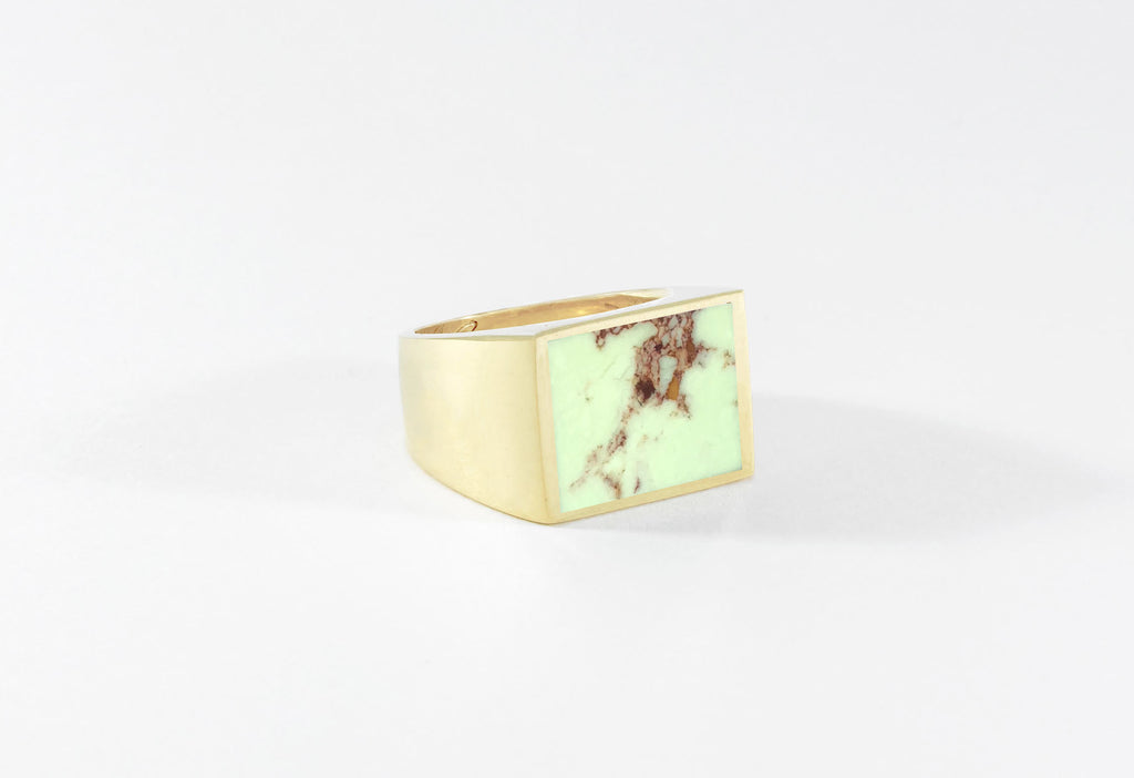 Legier Yellowhorse Stone Signet Ring