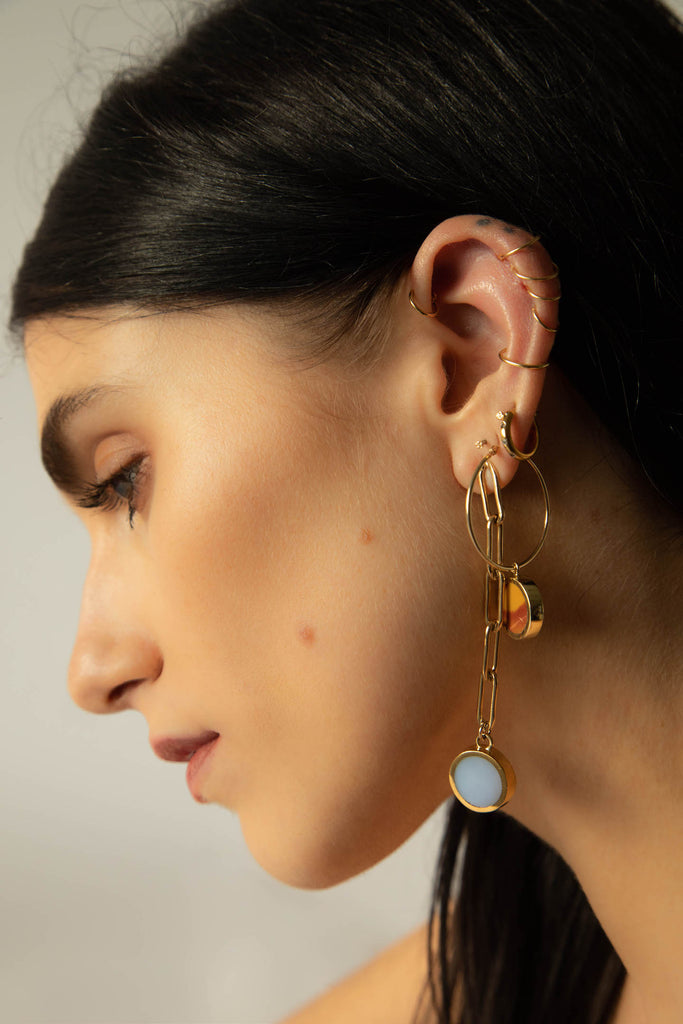 Legier Elongated Cable Earring Langley Hemmingway
