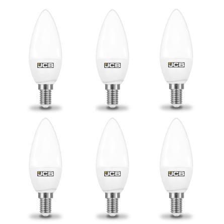 JCB 6W-40W LED Candle SES/E14 Non-Dim Warm White Pack of 6