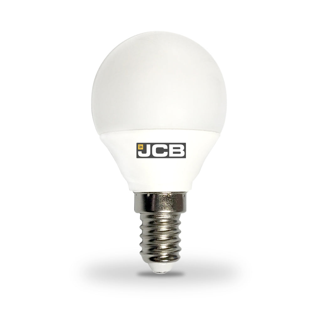 JCB 5W-40W Small Screw LED Golf Ball SES/E14 Non-Dim Warm White Bulb