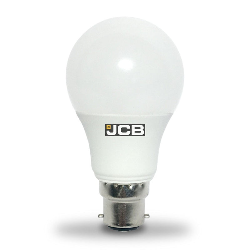 JCB 9W-60W Bayonet Non-Dim LED GLS BC/B22d Warm White Light Bulb
