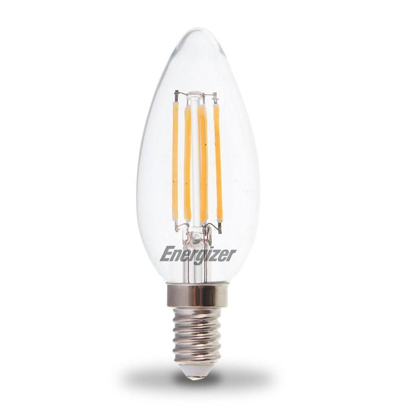 Energizer 4W-40W LED Candle SES/E14 Filament Non-Dim Light Bulb - LEDSmiths.com