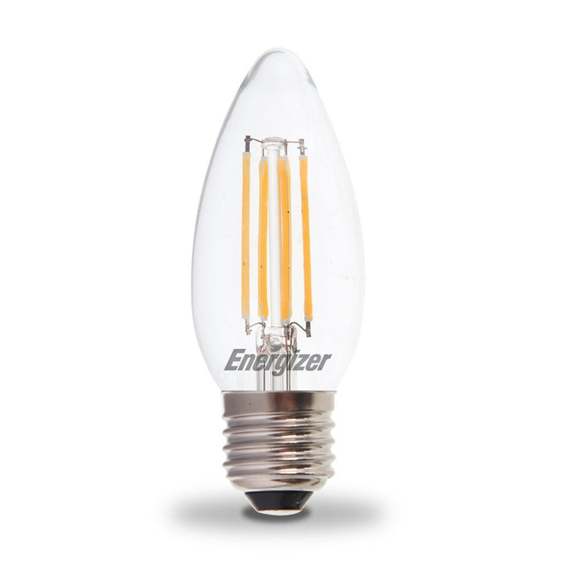 Energizer 4W-40W LED Candle ES/E27 Filament Non-Dim Light Bulb - LEDSmiths.com
