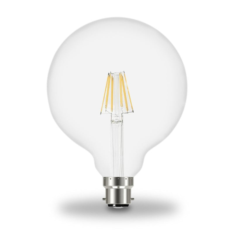 Prolite 6W(50W) LED BC/B22d G125 Globe Filament Non-Dim Light Bulb