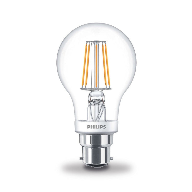 Philips 4.5W/40W LED BC/B22d GLS Filament Dim-Tone Light Bulb