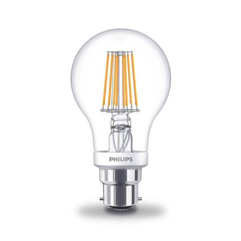 Philips 7.5W/60W LED BC/B22d GLS Filament Dim-Tone Light Bulb
