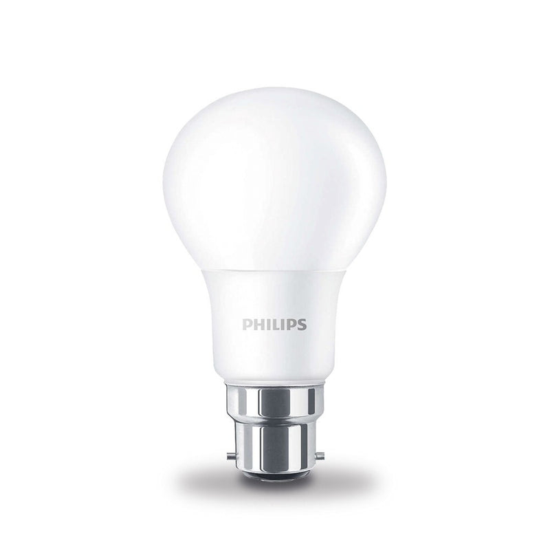 Philips 8W-60W LED CorePro GLS BC/B22d Non Dim Warm White Light Bulb