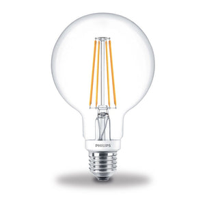 Philips 7W-60W LED ES/E27 G95 Globe Filament Dimmable Light Bulb