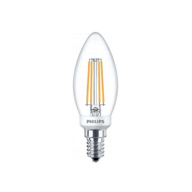 Philips 4.5W-40W LED Candle SES/E14 Filament Dimmable Light Bulb