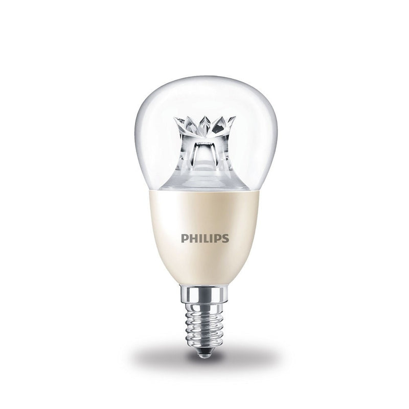 Philips 8W-60W LEDlustre Golf Ball SES/E14 DimTone Warm White