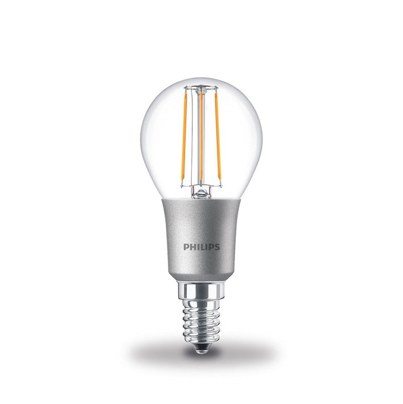 Philips 4.5W-40W LEDLuster Golf Ball SES/E14 Filament Dimmable Light Bulb