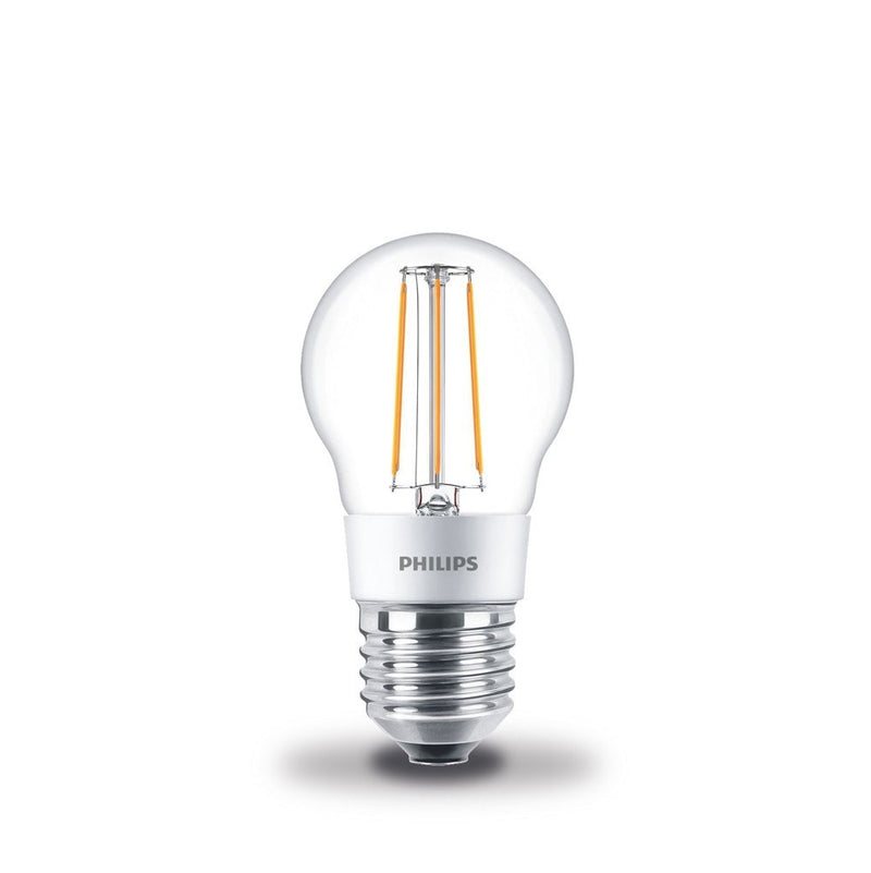 Philips 4.5W-40W LEDLuster Golf Ball ES/E27 Filament Dimmable Light Bulb