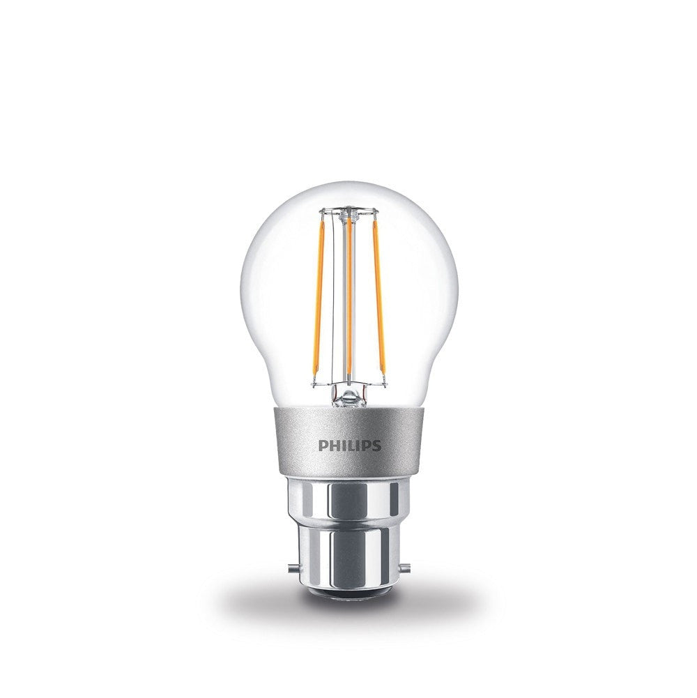 Philips 4.5W-40W LEDLuster Golf Ball BC/B22d Filament Dimmable Light Bulb