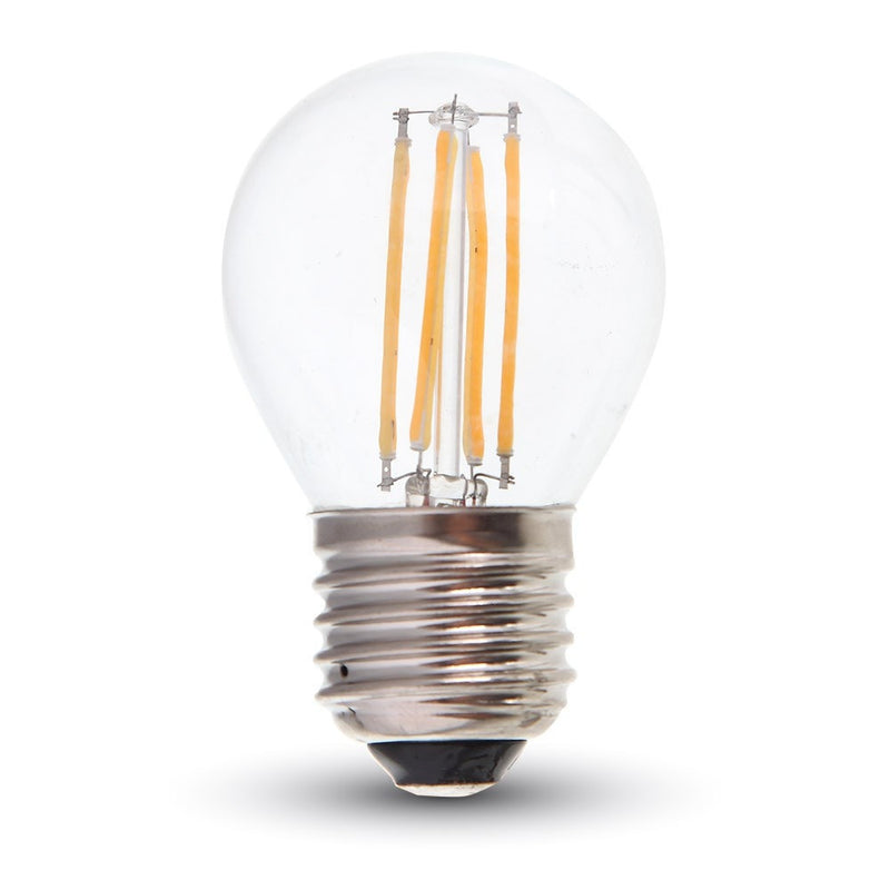 LED Golfball 4W ES/E27 Filament Bulb - 35W Equivalent - Warm White 2700K - Non Dim - LEDSmiths.com - 1
