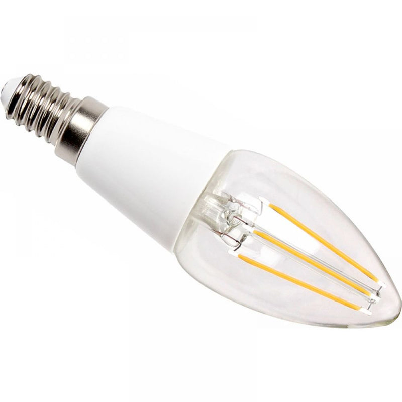 Prolite 3W-35W LED Dimmable Candle SES/E14 Filament Light Bulb