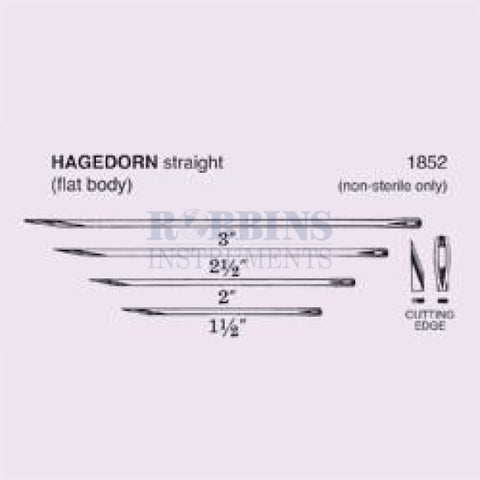 Hagedorn Needles 1.5 Long/100 Vial - 11.1852-1.5