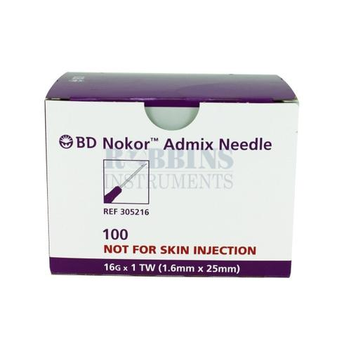 NoKor Needles - 16g - Box of 100 Sterile - 11.5216