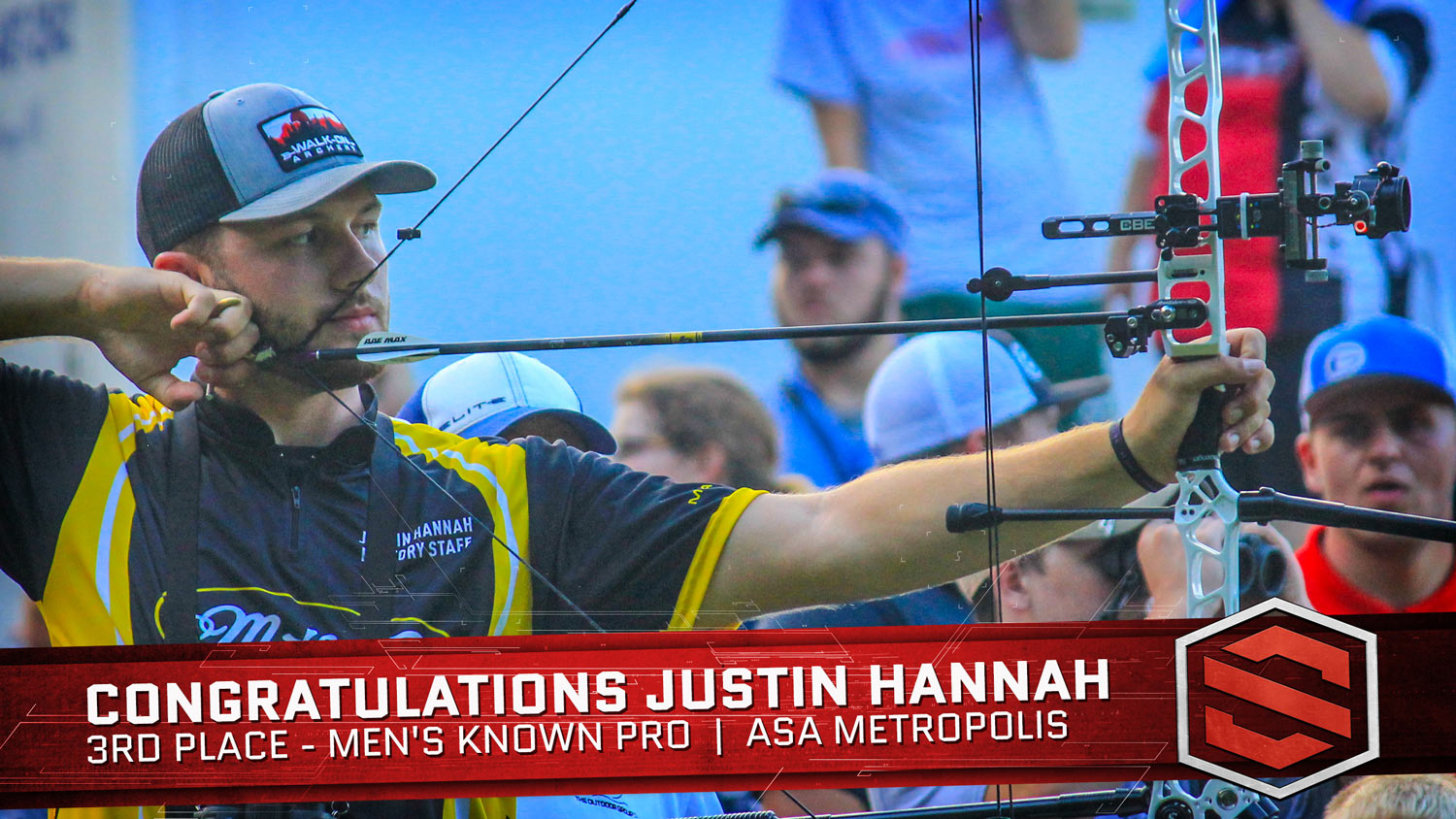 ASA Metropolis - Justin Hannah Wins 3rd Place for Men's Known Pro using his Scott Archery Longhorn Pro