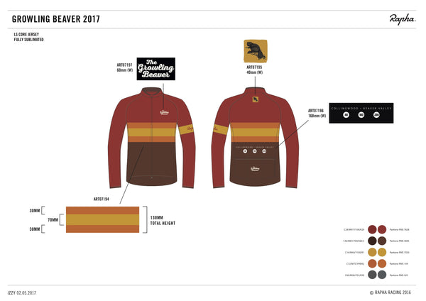 2017/2018  Long Sleeve Rapha Growling Beaver Jersey