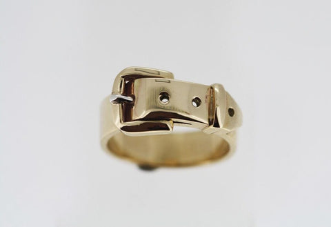 Buckle Ring 9ct Gold - Thin