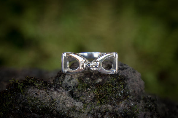 Stirrup Ring Double Silver