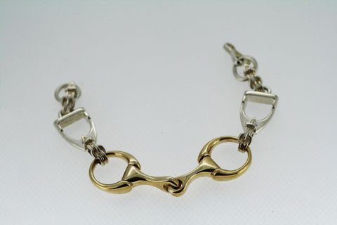 Bracelet with  9ct Gold Bit and S/S Stirrups