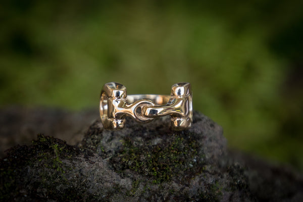 Snaffle Bit Ring - Solid 9ct Gold